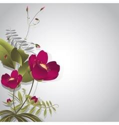 Wild flowers on gray vector