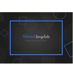 abstract black template design vector image