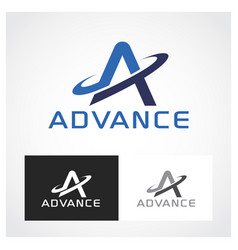 advance symbol vector image