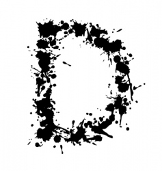 alphabet ink d vector image