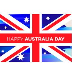Australia day banner for national day vector