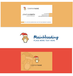 beautiful christmas penguin logo and business vector image