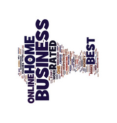 Best rated home business text background word vector