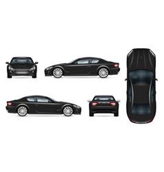 Black sports car realistic vector