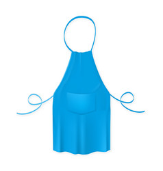 blank blue kitchen apron protective garment vector image