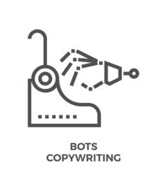 Bots copywriting icon vector