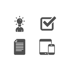 checkbox education and file icons mobile devices vector image
