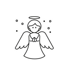Christmas angel icon on white background vector