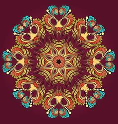 Circular doodle ornament vector