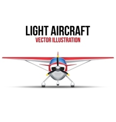 Civil Light Aircraft vector image