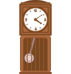 Clock with pendulum vector