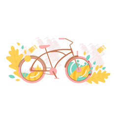 creative bicycle concept vector image