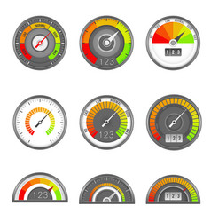 credit indicator speedometer score gauge level vector image