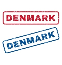 Denmark Rubber Stamps vector
