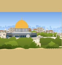 Dome of rock jerusalem vector