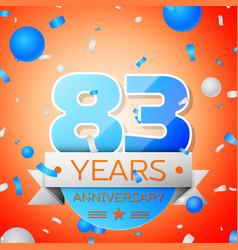 Eighty three years anniversary celebration vector