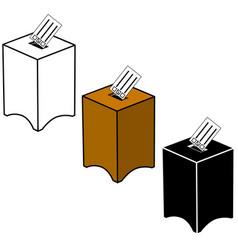 Election ballot icons vector
