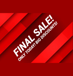 final sale advertising concept vector image