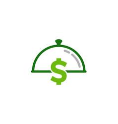 finance food logo icon design vector image