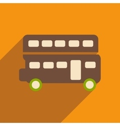 Flat icon with long shadow double decker bus vector