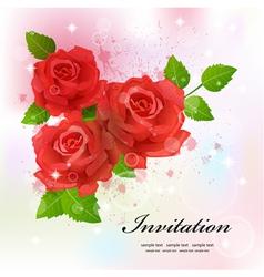 flower invitation card vector image