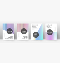 Flyer layout modern ecstatic template for brochur vector