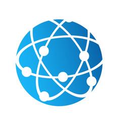 globe logo icon internet connection communication vector image