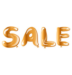 gold text sale template for design banner vector image