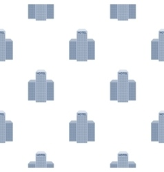 Hotel building icon in cartoon style isolated on vector image