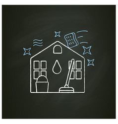House cleaning chalk icon vector