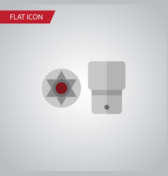 isolated screwdriver star flat icon turnscrew vector image