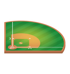 isometric baseball field flat baseball field vector image