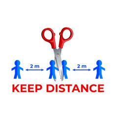 Keep a distance vector