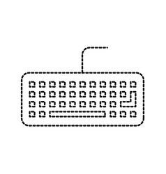keyboard device of computer work hardware vector image