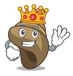 King spiral shell mascot cartoon vector