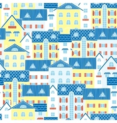 Light background of houses vector image