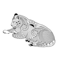 Lioness zentangle vector