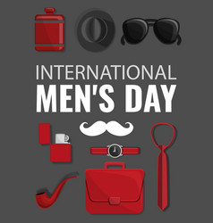 mens day concept background cartoon style vector image
