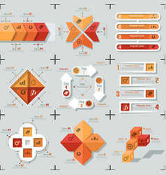 Modern infographic options banner - orange version vector
