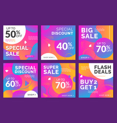 modern sales banner social media vector image