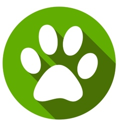 New Paw icon button flat vector
