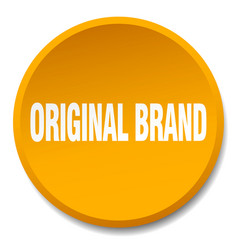 original brand orange round flat isolated push vector image