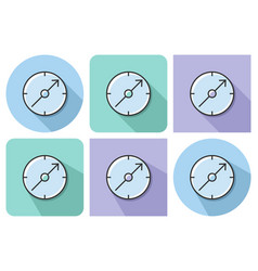 outlined icon of compass with parallel and not vector image