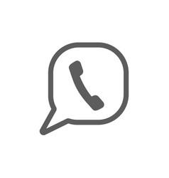 phone icon logo template phone icon vector image