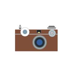 Photo camera flat icon symbol photographer vector