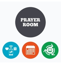 Prayer room sign icon Religion priest symbol vector image
