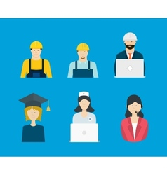 Profession occupation icons vector