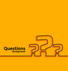 Question mark background with text space area vector