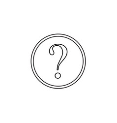 question mark line icon help sign faq vector image