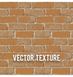 Red brick wall seamnless texture vector image